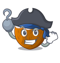 Pirate character coconut of pieces in market vector