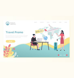 plane tickets discount tourism webpage vector image