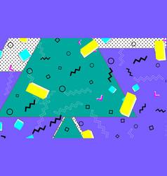 pop art color background memphis pattern vector image
