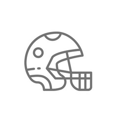 protective sport helmet game equipment line icon vector image