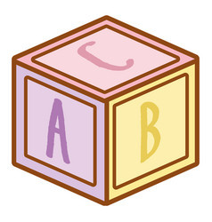puzzle cube baby toy vector image
