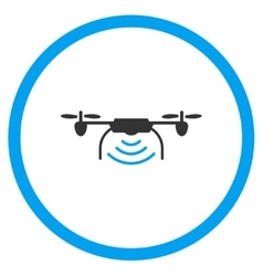 Radio Transmitter Drone Icon vector