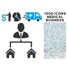 Realty manager icon with 1000 medical business vector