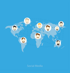 relationship between different people world vector image