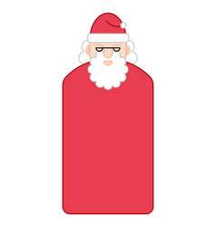 santa claus face new year grandfather portrait vector image