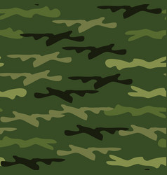 Seamless camouflage pattern woodland style vector