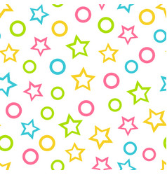 seamless wallpaper color pattern for kids vector image