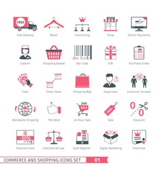 Shopping Set 01 vector image