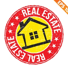 Stamp sticker real estate collection - - EP vector
