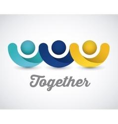 Together concept design vector