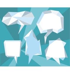 Triangular 3d bubble speech vector