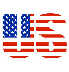 typography with united states flag clipped in it vector image