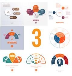 Universal templates elements infographics vector