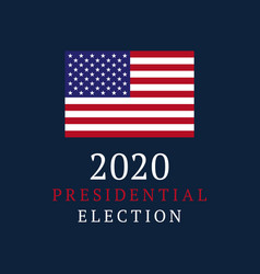 usa vote banner 2020 united states america vector image