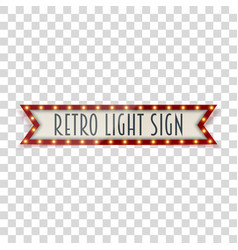 vintage realistic light sign vector image