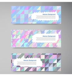 Wed banners set color element and square vector