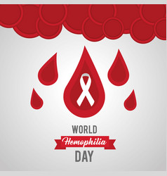 world hemophilia day drops of blood symbol vector image
