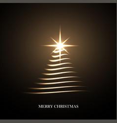 bright christmas tree vector image