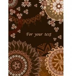 chocolate postcard vector image vector image