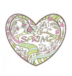 cute spring heart vector image