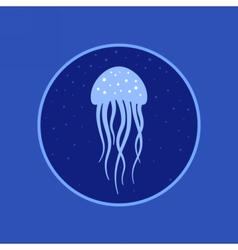 Jellyfish under water icon Marine life vector image