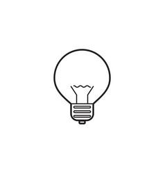 Lightbulb line icon lamp outline logo vector