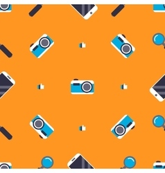 Pattern with social media elements vector