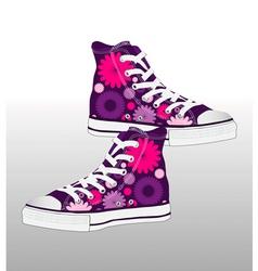 retro sneaker shoe design vector image vector image