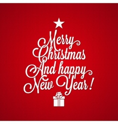 christmas vintage lettering background vector image