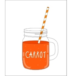 Fresh Carrot Smoothie Healthy Food vector image