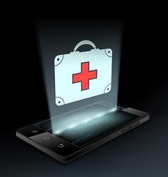 Icon medical bag vector image vector image