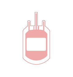 plastic bag blood donation transfusion vector image vector image