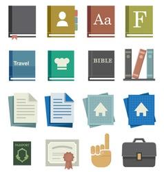 School Work Icons vector image