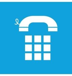 Simple phone keypad blue icon vector image