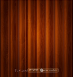 wood background texture of dark brown wooden plank vector image vector image