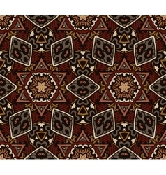 Abstract mosaic vintage ethnic seamless pattern vector image vector image