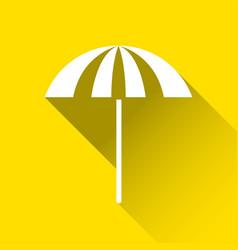 beach umbrella icon travel and holiday symbol vector image