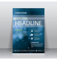 brochure flyer cover design template vector image vector image