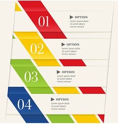 Business steps or options banner vector image vector image