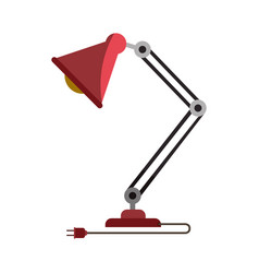 colorful graphic of modern desk lamp without vector image vector image