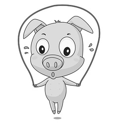 Pig exercise vector image vector image