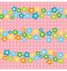 seamless pattern with cheerful flowers vector image vector image