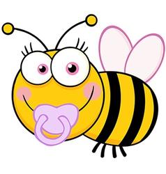 Baby Girl Bee Cartoon Mascot Character vector image vector image