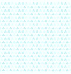 cyan shamrock pattern seamless vector image