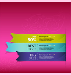 Show colorful ribbon promotional vector image