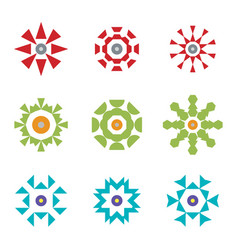 abstract red green blue design icon logos set vector image vector image