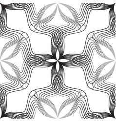 abstract retro style arabesque linear seamless vector image