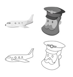 airport and airplane sign vector image