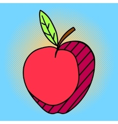 Apple Pop art vector image