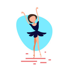 Ballerina woman dancing pose on white background vector